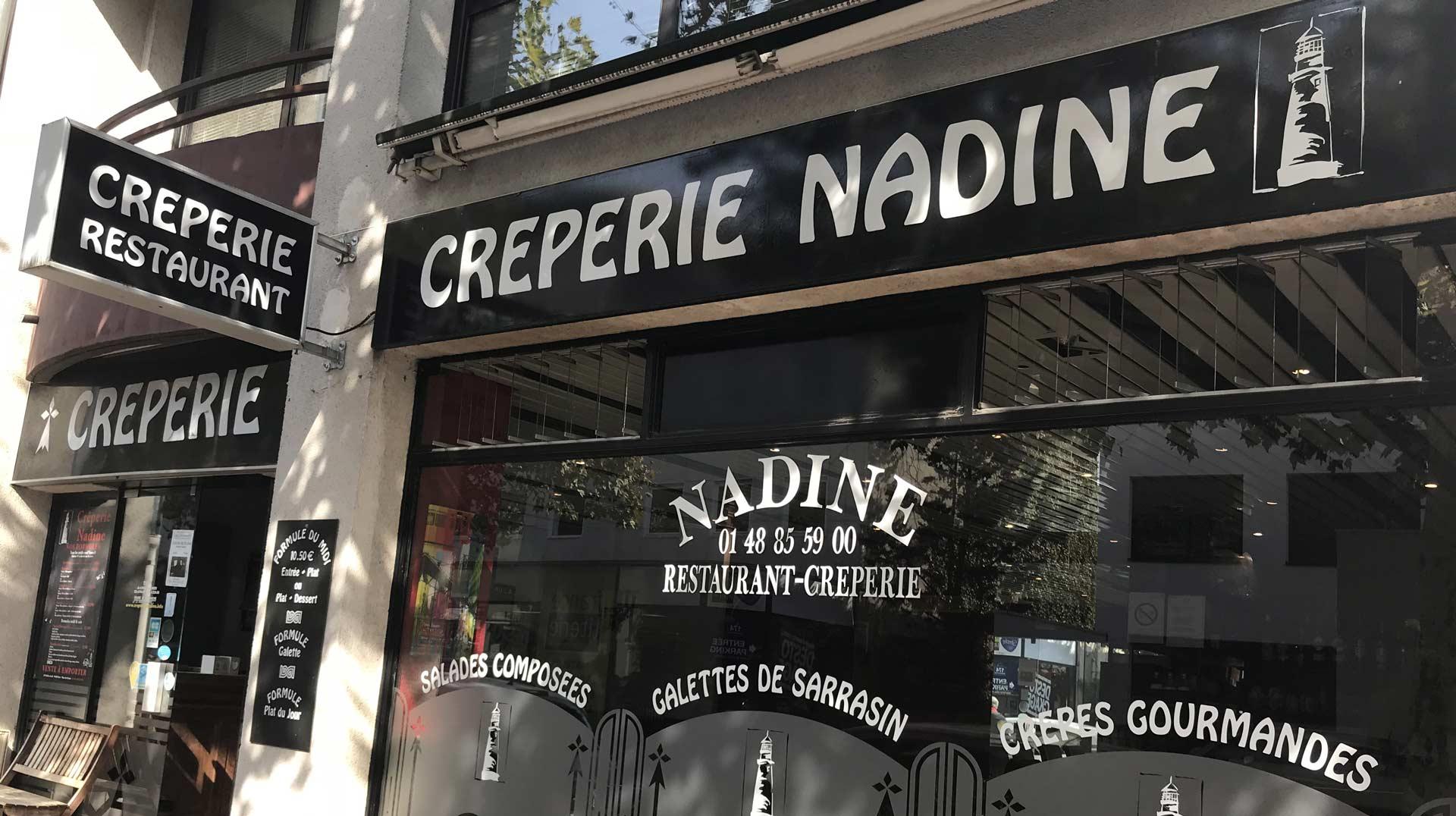 Crêperie Nadine   nos menus et formules à Saint-Maur-des-Fossés